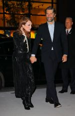 Julianne Moore and husband Bart Freundlich seen all smiling while arriving at the WSJ Innovator Awards in New York City