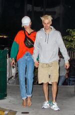 Justin Bieber and wife Hailey Bieber grab a sushi dinner while spending Friday in Miami