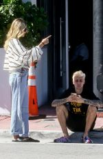 Justin Bieber & Hailey Bieber Pick up some juice while out in Miami