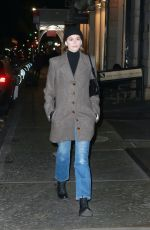 Kaia Gerber Braves the cold weather while out for a stroll in New York