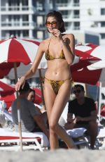 Kaia Gerber In a Bikini at a Beach in Miami