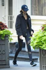 Kaia Gerber Takes a solo stroll through Soho after a weekday workout