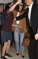 Katie Holmes Arriving at the airport in Sydney