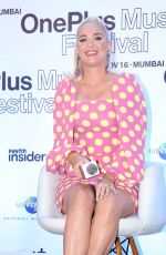"Katy Perry & Jacqueline Fernandez At ""OnePlus Music Festival Press Conference in Mumbai"