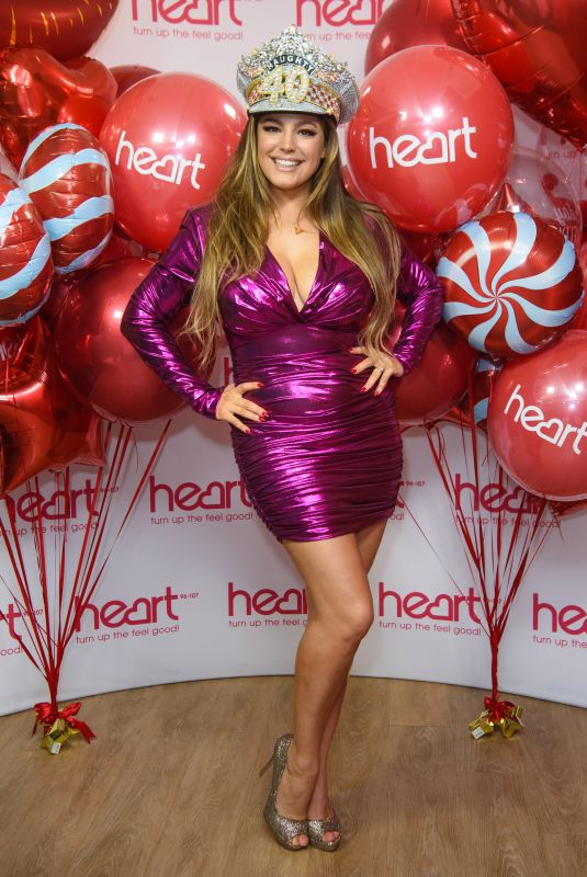 Kelly Brook At Birthday Celebrations At Heart Radio in London