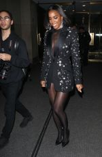 Kelly Rowland Looks striking in black sequin jacket and black tights at the Today Show in New York