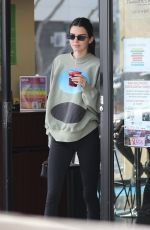 Kendall Jenner Looks very happy while out grabbing a healthy drink with Fai Khadra in Beverly Hills
