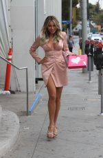 Khloe Terae Leaves Barbie Blank launch event in West Hollywood