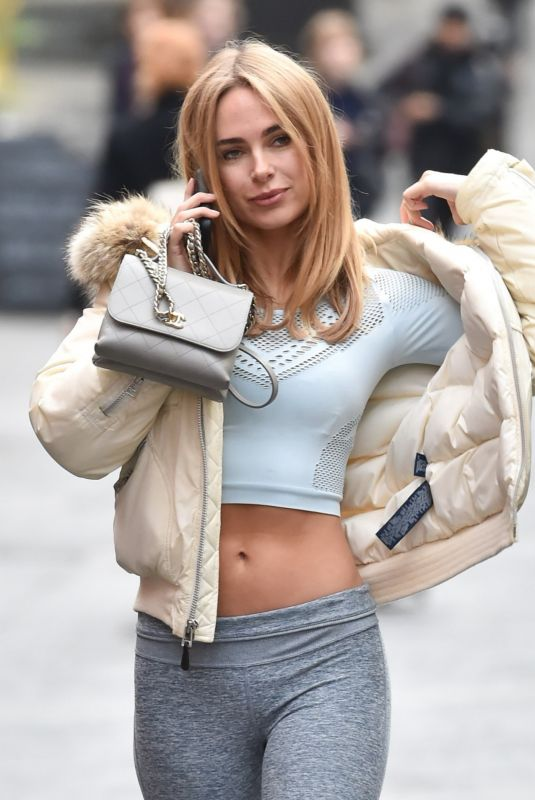 Kimberley Garner Seen driving around Chelsea in her Ferrari after a session at the Gym in London