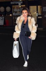 Lauren Goodger Seen leaving the Eclipse school of beauty and aesthetics where she has been taking part in a microblading course