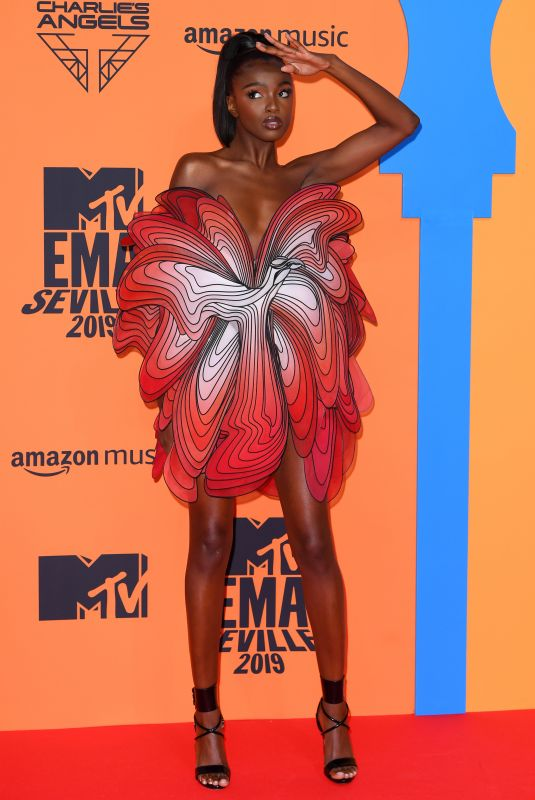 Leomie Anderson At MTV European Music Awards FIBES Conference & Exhibition Centre Seville