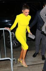 Lisa Rinna In a yellow dress as she is seen arriving at Bravo Con in New York