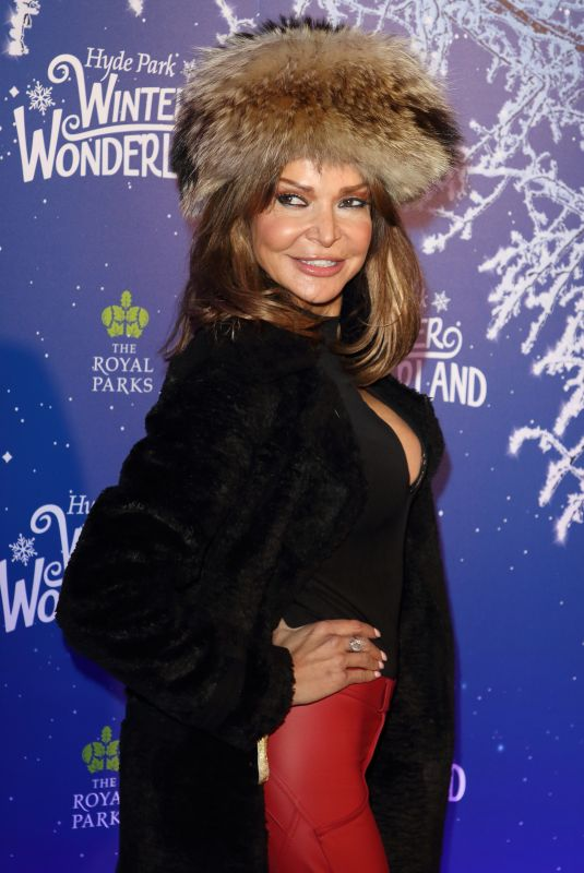 Lizzie Cundy Attends the Winter Wonderland VIP launch night at Hyde Park in London