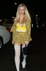 Lottie Moss Exits a Halloween Party at LayLow Club in London