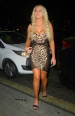 Lucie Donlan Attends the Lipstick and Champagne Party at STK in London