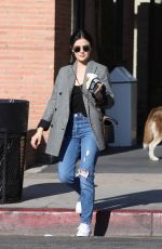 Lucy Hale At Alfred Coffee in Studio City