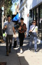 Madelaine Petsch All smiles after having breakfast with friends at Joan