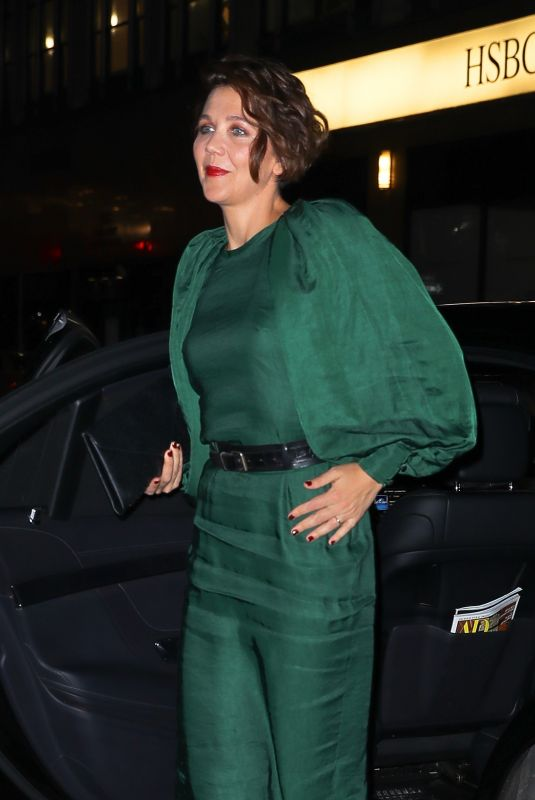 Maggie Gyllenhaal Arrives at the Ovarian Cancer Research Alliance event in New York