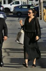 Mandy Moore and Josh Lucas arriving to Kimmel studio