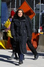 Mariska Hargitay On The Set Of