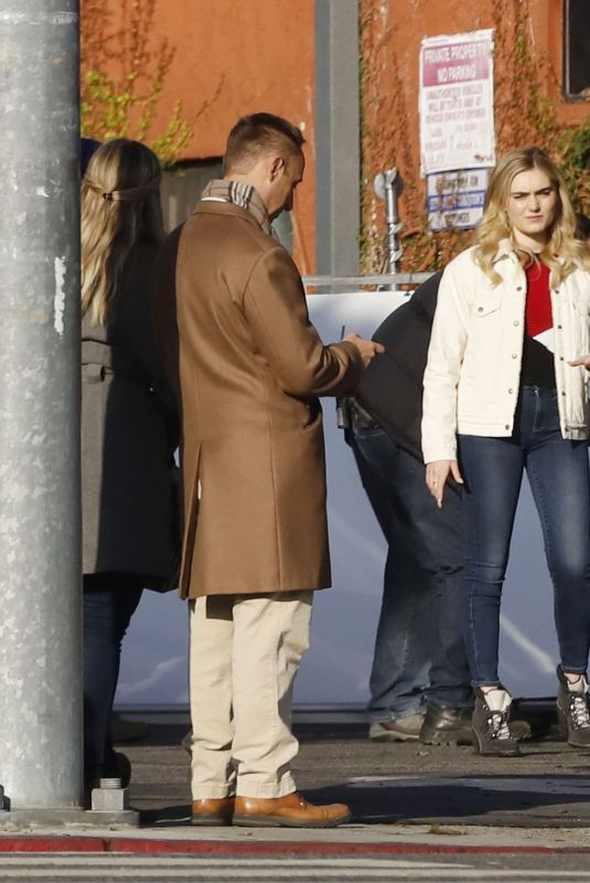 Meg Donnelly On the set of