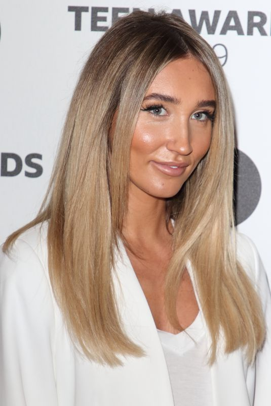 Megan McKenna On the red carpet during the Radio One Teen Awards at BBC Television Centre in London