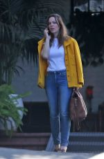 Melissa George Waits At The Valet At The Chateau Marmont In West Hollywood