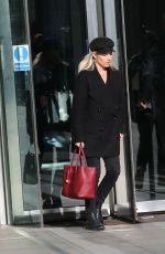 Mollie King Exits BBC studios in London