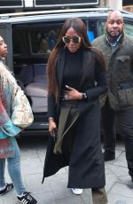 Naomi Campbell Arrives at Global Offices to be interviewed by Manny Norte in London