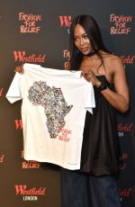 Naomi Campbell At Fashion For Relief Pop-Up Store at Westfield in London