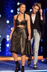 Naomi Scott, Ella Balinska & Kristen Stewart Visit The Jonathan Ross Show in London, England