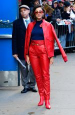 Naomi Scott Spotted heading in and out of the GMA studios in NYC