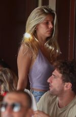 Natasha Oakley Arrives for an alfresco lunch at Il Pastaio