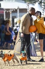 Nicole Williams Spends the day at Mr Bones pumpkin patch with her hubby Larry English in Los Angeles