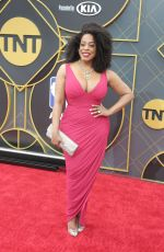 Niecy Nash Attends red carpet for the 2019 NBA Awards held at Barker Hangar in Santa Monica