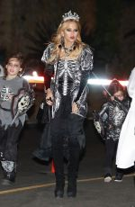 Rachel Zoe Leaves a Halloween party with her kids Kaius and Skyler in Malibu