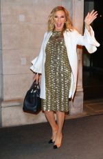 Ramona Singer Flashes a big wave to the cameras while out and about in New York City