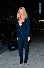Rosie Huntington Gets busty for a night out to dinner in NYC