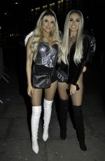 Rosie Williams and Hayley Hughes arrives at Eden bar in Manchester for Halloween