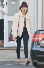 Sarah Hyland Leaving a Pilates studio in Studio City