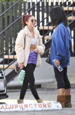 Sarah Hyland Shows off her abs after pilates workout in Studio City