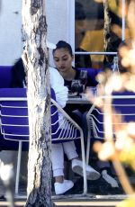 Shanina Shaik Enjoys a casual lunch with friends in Hollywood