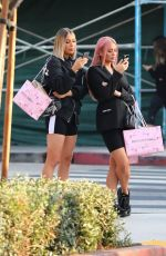 Sisters Demi, Chloe, and Frankie Sims, leave Pretty Little Things with friend Vas Morgan