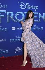 Sofia Carson At Premiere of Frozen 2 in Hollywood