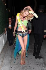 Stella Maxwell Portrays Britney Spears as she arrives at Drake