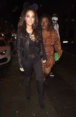 Tulisa Contostavlos Attend the PLT Halloween Party at Whiskey Down in Manchester