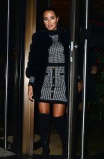 Yazmin Oukhellou and Nicole Bass leave Novikov restaurant in Mayfair