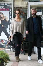 Alessandra Ambrosio Goes out for sushi in West Hollywood