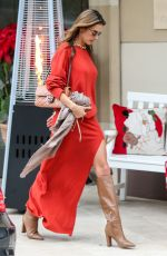 Alessandra Ambrosio Stepping Out For Christmas Dinner in Los Angeles