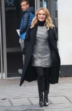 Amanda Holden Leaving iHeart Radio studio in London